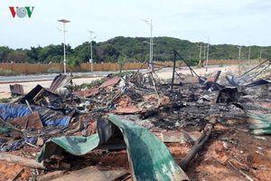 Cháy nổ lớn tại Cam Ranh, 2 người chết, 9 người bị thương