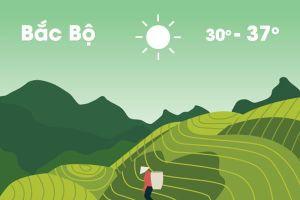 Thời tiết ngày 17/6: Bắc Bộ nắng nóng trở lại, Nam Bộ mưa rào