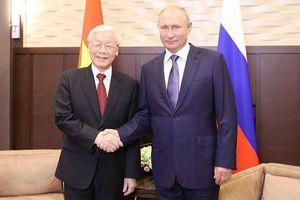Tổng bí thư, Chủ tịch nước trao đổi điện mừng với Tổng thống Putin