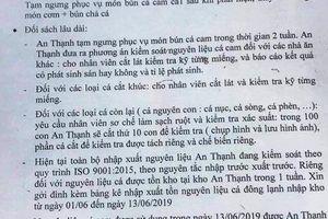 Đà Nẵng: Xác minh thông tin có sán trong suất ăn của công nhân
