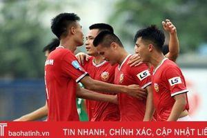 Kết thúc lượt đi, Hồng Lĩnh Hà Tĩnh dẫn đầu bảng xếp hạng Giải bóng đá hạng Nhất quốc gia 2019