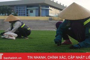 Sân vận động Hà Tĩnh gấp rút chuẩn bị ngày khai trương