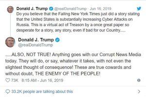 Ông Trump gọi thời báo New York là 'kẻ thù của người dân'