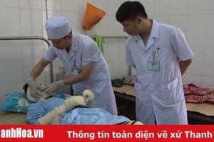 Huyện Thạch Thành: 5 người bị bỏng nặng do nổ bình gas