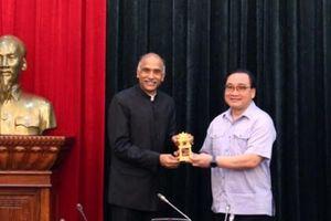 Bí thư Thành ủy Hoàng Trung Hải tiếp Đại sứ Ấn Độ