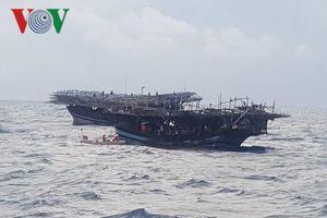Cứu sống thuyền viên tàu cá bị tai biến trên vùng biển Hoàng Sa