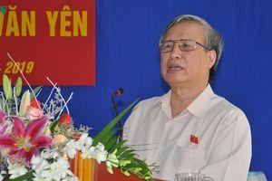 Thường trực Ban Bí thư Trần Quốc Vượng tiếp xúc cử tri tại Yên Bái