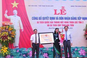 Thành đất hình tròn Lộc Tấn 2 được công nhận Di tích quốc gia