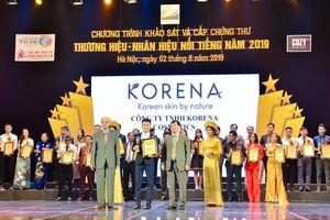 Mỹ phẩm Korena lên sóng đài truyền hình VTC6 tại sự kiện trao giải Thương Hiệu - Nhãn Hiệu Nổi Tiếng 2019