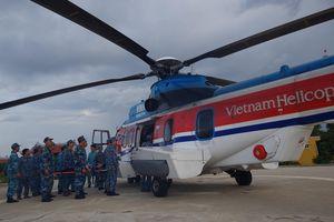 Điều trực thăng ra đảo Sơn Ca cấp cứu chiến sĩ đột quỵ não