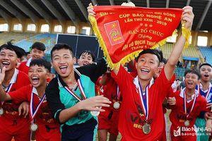 Thư cảm ơn của Ban tổ chức Giải bóng đá Thiếu niên - Nhi đồng cúp Báo Nghệ An 2019