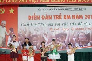 Huyện Di Linh tổ chức Diễn đàn trẻ em 2019 với nhiều hoạt động sôi nổi