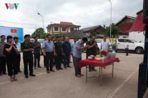 Đưa hài cốt 12 liệt sĩ hy sinh tại Lào về nước