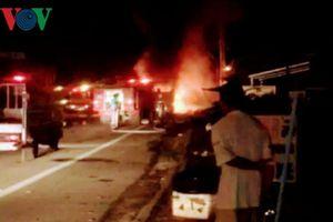 Vụ xe khách bốc cháy tại Sóc Trăng: Thu mẫu dầu trong xe để kiểm tra
