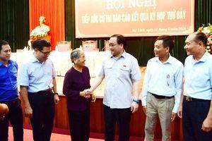 Bí thư Thành ủy Hà Nội Hoàng Trung Hải tiếp xúc cử tri huyện Mê Linh