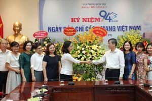 Thứ trưởng Trịnh Thị Thủy chúc mừng các cơ quan báo chí nhân Ngày Báo chí cách mạng Việt Nam