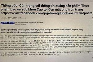 Cẩn trọng với nhiều thông tin 'nhái' quảng cáo sản phẩm cao tỏi đen mật ong của Cty Bảo Sinh