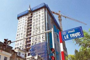 Hà Nội: Tòa nhà 8B Lê Trực làm sai từ móng, lấn cả vỉa hè