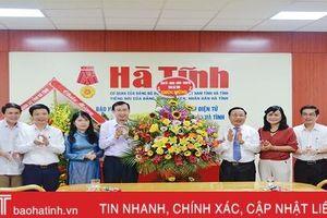 Lãnh đạo tỉnh chúc mừng các cơ quan báo chí Hà Tĩnh