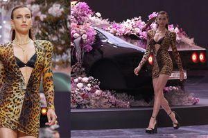 Irina Shayk tự tin sải bước trên sàn catwalk show thời trang Xuân Hè 2020 của Versace 'hậu chia tay' với Bradley Cooper