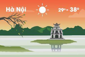 Thời tiết ngày 20/6: Hà Nội nắng nóng gay gắt, Trung Bộ 39 độ C