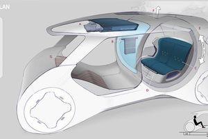 Xe hơi trong tương lai lắp cả bồn tắm bên trong?