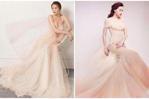 Diện váy cưới 30 triệu đồng, Đàm Thu Trang gây sốt vì phong cách na ná vợ cũ Cường Đô la