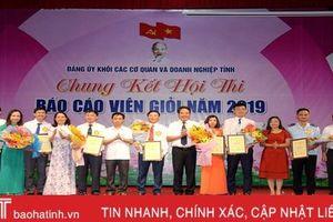13 thí sinh các cơ quan và doanh nghiệp Hà Tĩnh thi báo cáo viên giỏi