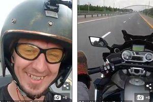 CLIP: Cái kết cực thảm cho thanh niên dùng chân lái xe với vận tốc 130km/h