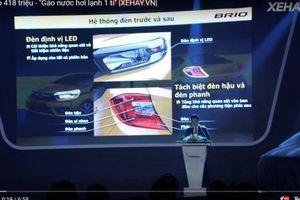 Honda Brio 418 triệu trình làng, thêm lựa chọn xe đô thị cỡ nhỏ cho khách Việt