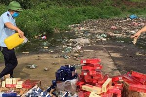 Hải quan Quảng Ninh tiêu hủy thuốc lá, đồ chơi trẻ em… nhập lậu