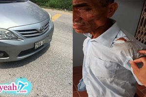 Cộng đồng mạng bức xúc truy tìm chủ nhân xe ô tô gây tai nạn cho cụ già 70 tuổi, giả vờ chở khỏi hiện trường một đoạn, rồi đẩy cụ xuống đường bỏ trốn