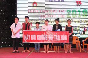 Diễn đàn trẻ em Quảng Trị năm 2019 với chủ đề 'Trẻ em với các vấn đề về trẻ em'