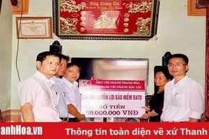 Chi trả bảo an tín dụng cho khách hàng ở huyện Hậu Lộc