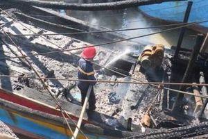 Cháy tàu đánh bắt xa bờ, thiệt hại hơn 2 tỷ đồng