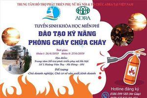 Đào tạo miễn phí kỹ năng phòng cháy, chữa cháy cho các DN, hộ kinh doanh tại Hà Nội