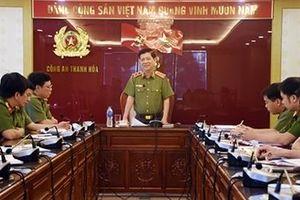Thứ trưởng Nguyễn Văn Sơn làm việc tại Công an Thanh Hóa
