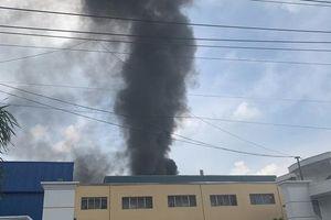 Bình Dương: Nổ tại KCN Sóng Thần 2, cột khói bốc cao kèm mùi khó chịu