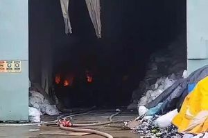 Cháy lớn ở Khu công nghiệp Sóng Thần 2