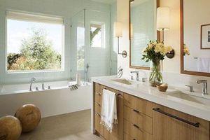 Bất kể diện tích lớn nhỏ, chỉ nhờ mẹo thiết kế này mà phòng tắm luôn khiến người dùng thoải mái