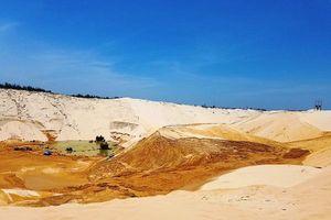 Quảng Bình: Trượt cát tại mỏ khai thác titan làm một người mất tích