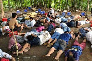 Bộ Công an vây bắt trường gà của băng giang hồ 'máu mặt' ở Vĩnh Long