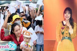 Có ai như fan Minh Hằng: Bế con đi xếp hàng nhận vé fan meeting, hứa thi đỗ Đại Học để mẹ cho gặp thần tượng