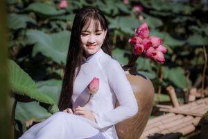 Thần đồng Bolero Kim Chi khoe vẻ đẹp trong veo bên hồ sen quê nhà