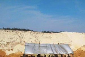 Tìm thấy thi thể công nhân bị trượt cát tại mỏ khai thác ti tan
