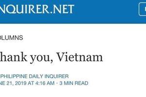 Tổng thống Duterte cảm ơn Việt Nam cứu mạng ngư dân Philippines