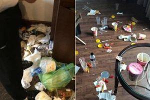 Du khách Hạ Long biến khách sạn hạng sang thành bãi rác kinh hoàng