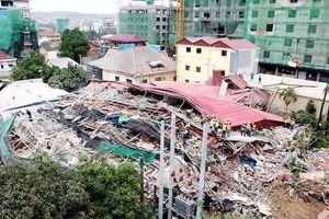 Vụ sập tòa nhà của người Trung Quốc tại Campuchia: Số người chết tăng vọt