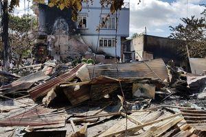 Cháy lớn ở Đức Trọng, 12 ki ốt khu vực chợ Liên Nghĩa bị lửa thiêu rụi