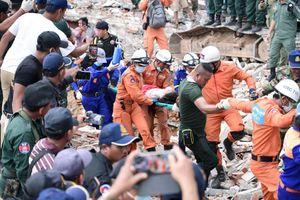Tỉnh trưởng Campuchia từ chức sau vụ sập tòa nhà 7 tầng